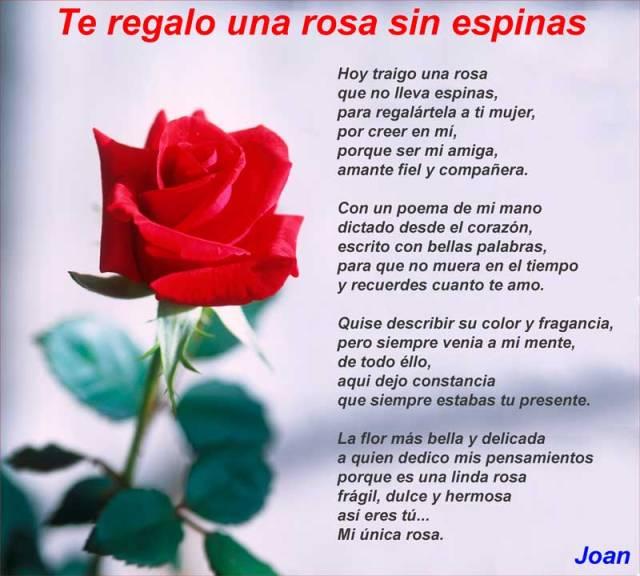 Imagenes de rosas con poemas de amor para regalar