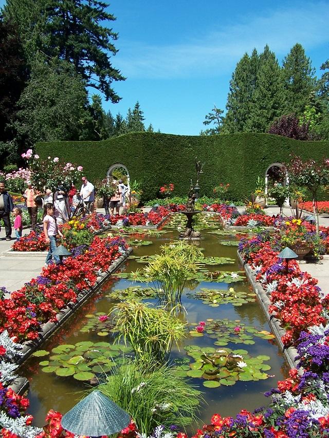 Imagenes del precioso jardin Butchart en Canada