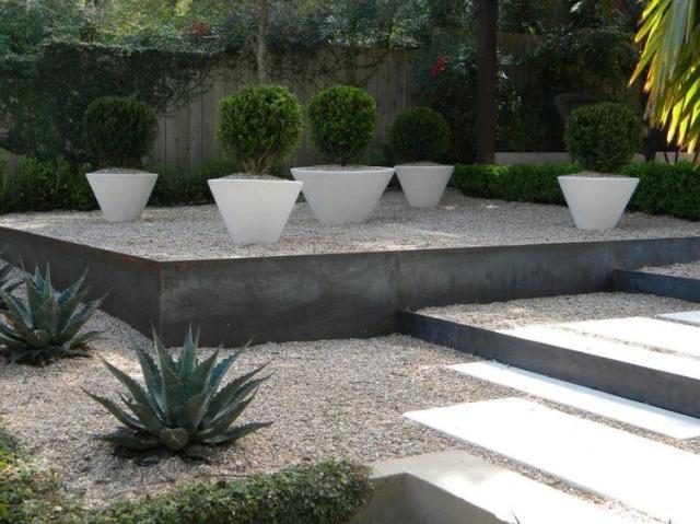 Imagenes ideas para diseñar un jardin minimalista con piedras
