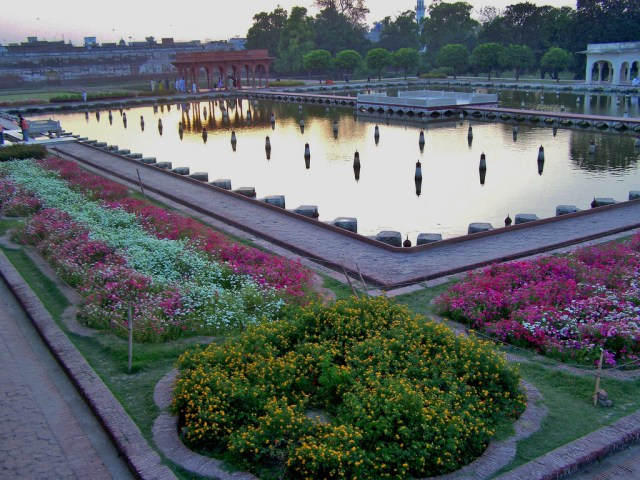 imagenes del jardín Shalimar en Pakistan