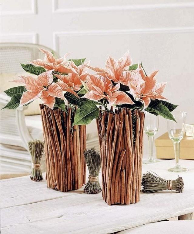 Imagenes con ideas de decoracion con flores de navidad