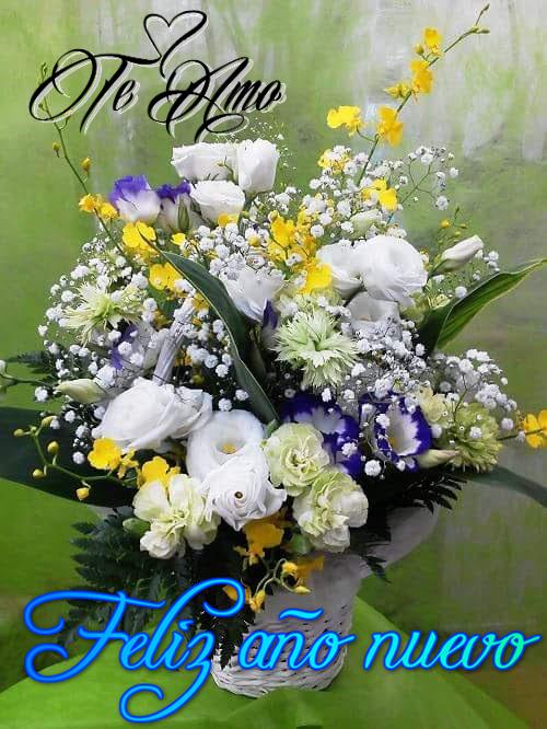 Imagenes de Amor con Ramo de flores Feliz Año Nuevo