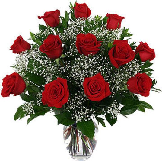 Ramo de rosas rojas para felicitar en san valentin a mis a migas en el facebook