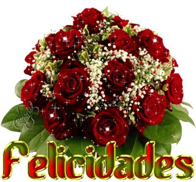 Imagenes de rosas con brillos para felicitar en una fecha especial