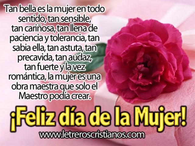 Imagenes de una flor con un mensaje para el día de la mujer