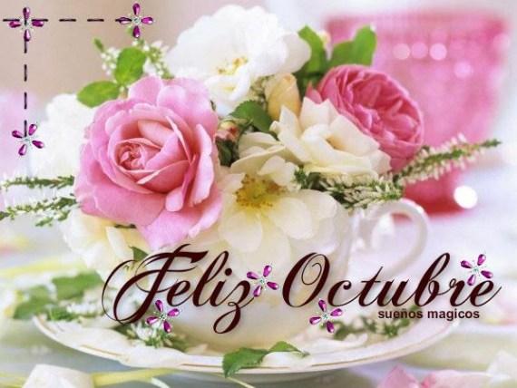 Imagenes bonitas de flores para compartir Feliz Octubre