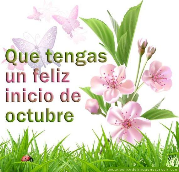 Imagenes con flores feliz inicio de octubre