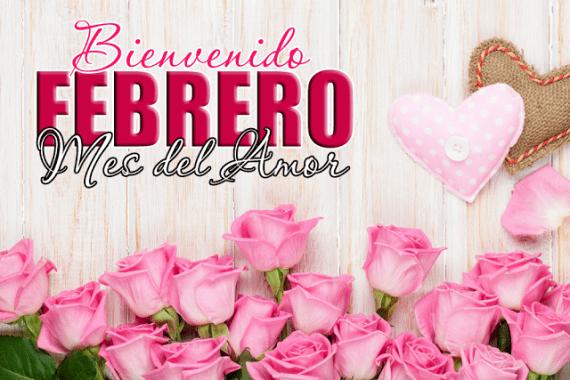 Imagenes de rosas y corazones Bienvenido Febrero