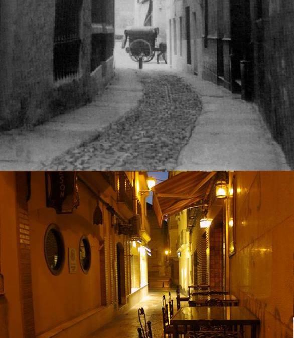 Calle Flores de Negrón. Ayer (1960) y hoy.
