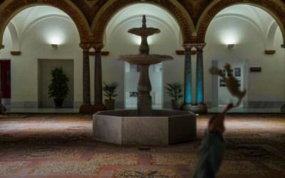 Patio del Palacio de Santa Ana de noche