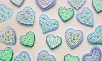 Galletas con forma de corazón para el día de los enamorados