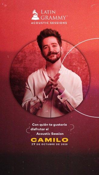Mastercard y La Academia Latina de la Grabación® te invitan al primer Latin GRAMMY® Acoustic Sessions virtual con Camilo