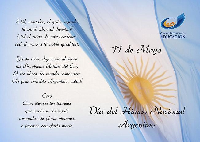 Resultado de imagen para Fotos del Día del Himno Nacional Argentino