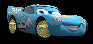 Cars Rayo McQueen celeste