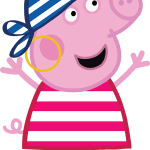 Imagenes Peppa Pig y amigos PIRATAS