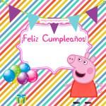 Imágenes de Feliz Cumpleaños con Peppa Pig y su familia