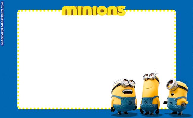 Minions Tarjetas Stickers Etiquetas