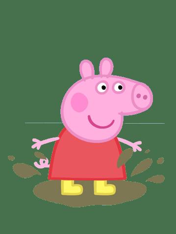 Peppa Pig en los charcos