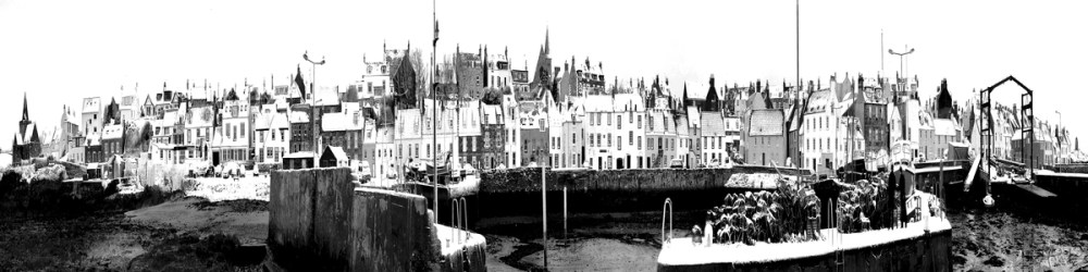 St Monans in the Snow (monochrome)