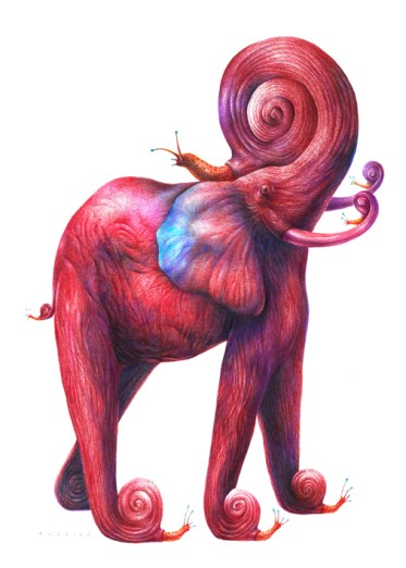 elefante-rojo-caracoles