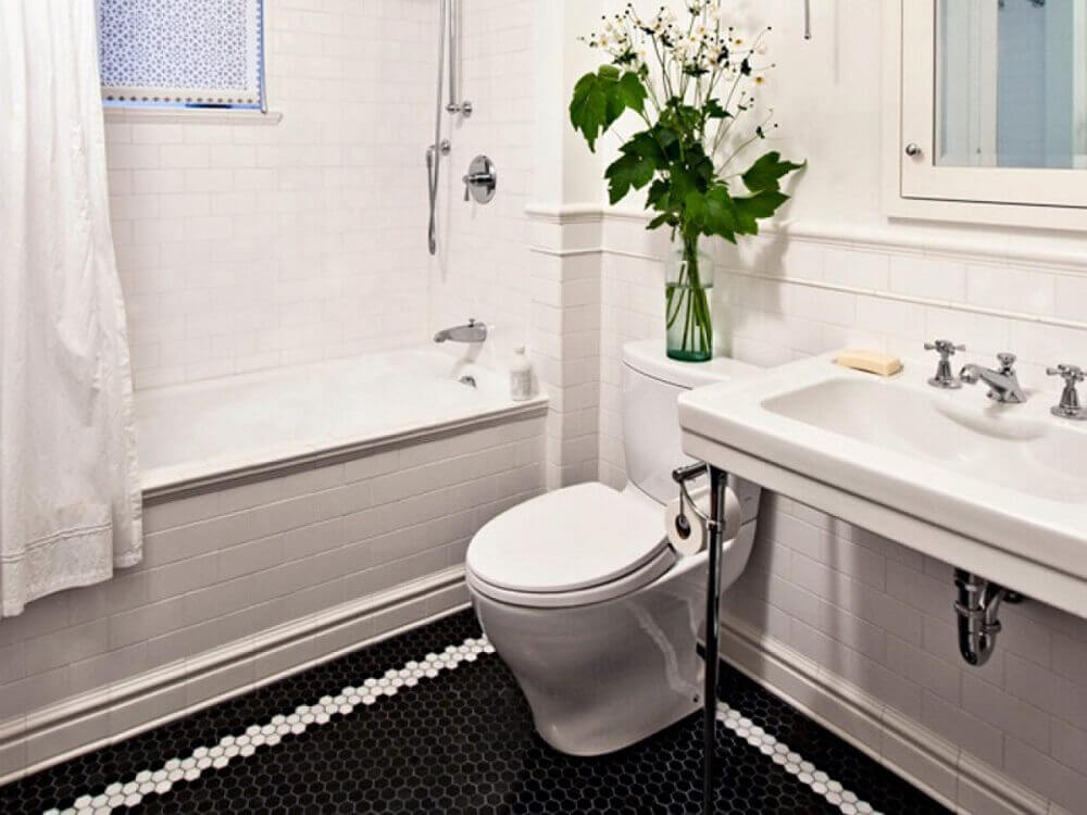 piso para banheiro com detalhe