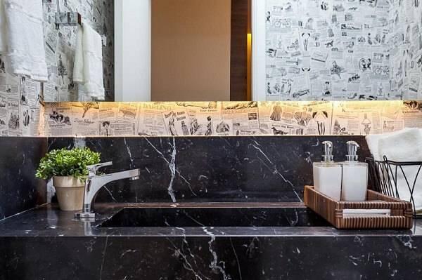 Marmore lavabo com jornal raduan arquitetura 100102