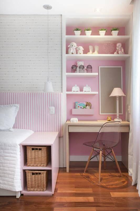 escrivaninha quarto de menina compacta meyer cortez 84027
