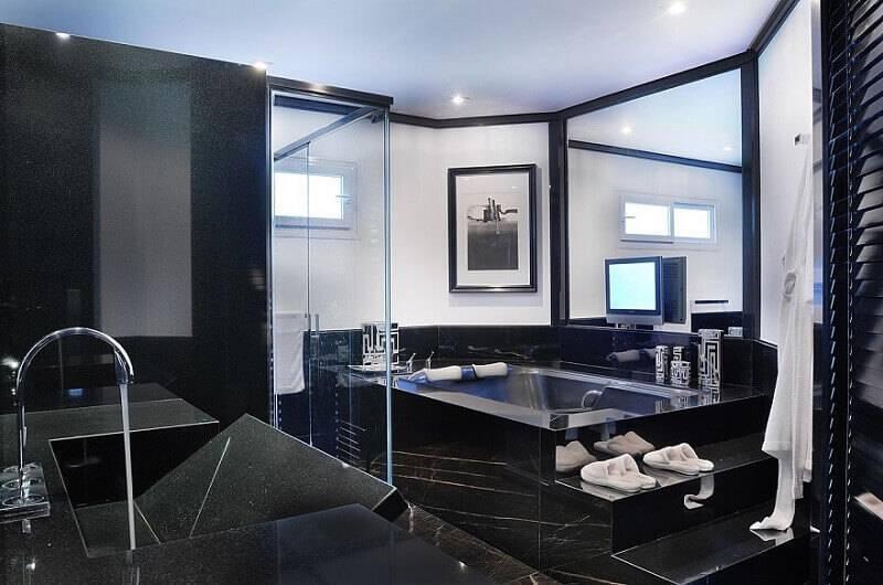 marmore banheiro revestido moreno interiores 65610
