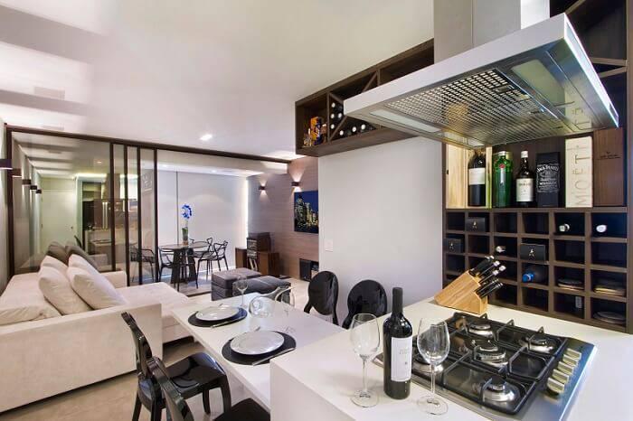 Apartamentos pequenos cozinha integrada Gerson Dutra de Sá e Ana Lucia Salama