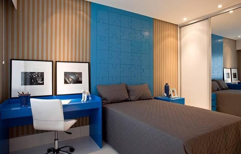 Papel de parede quarto de casal quarto sq arquitetos associados 65680