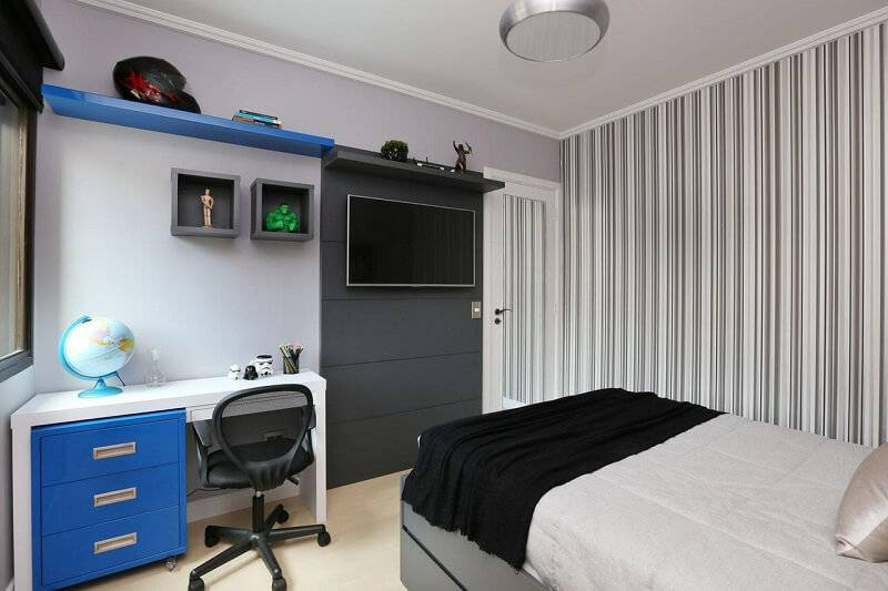 Papel de parede quarto de solteiro luciane mota 62433