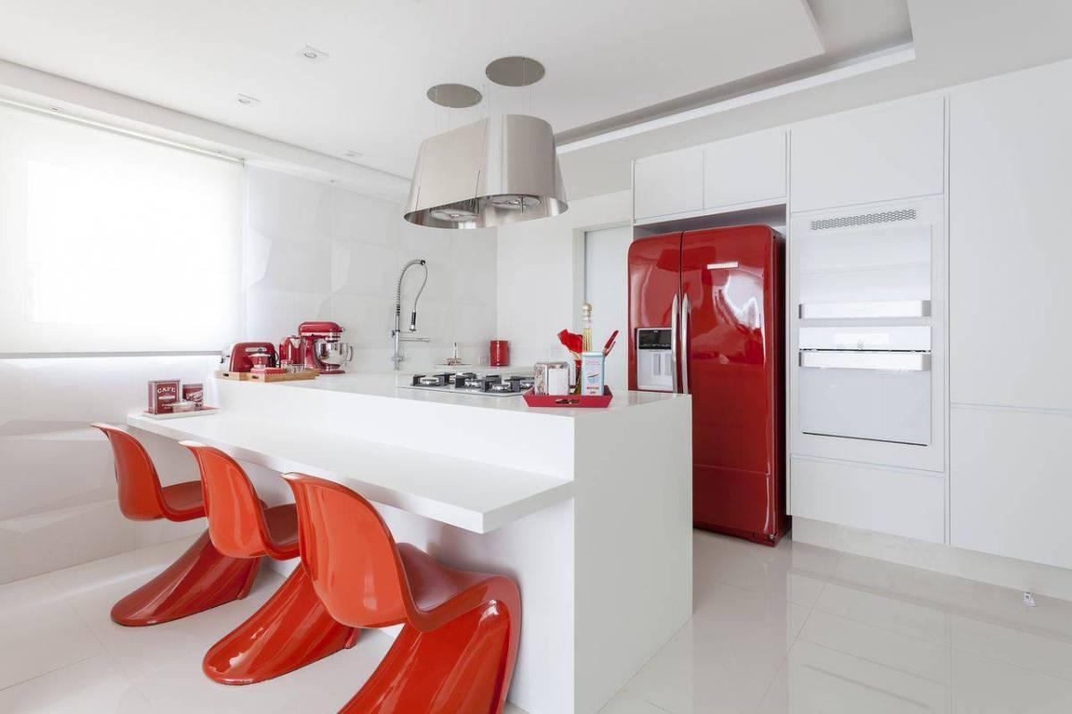cadeiras cozinha vermelha e branca mariana lucciano 140352