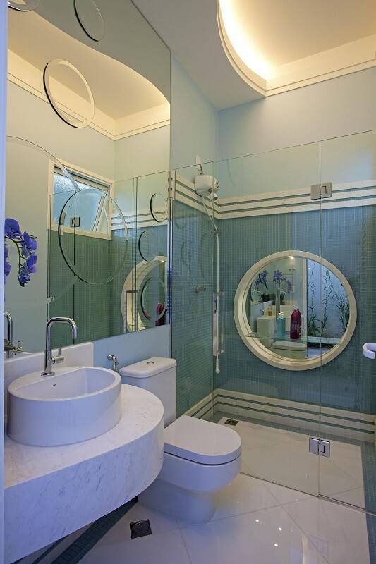 espelho para banheiro decorativo circulos aquiles nicolas kilaris 19030
