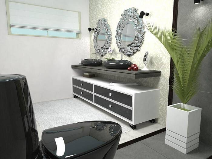 espelho para banheiro detalhado e espelho de bancada daniel poletti 39633