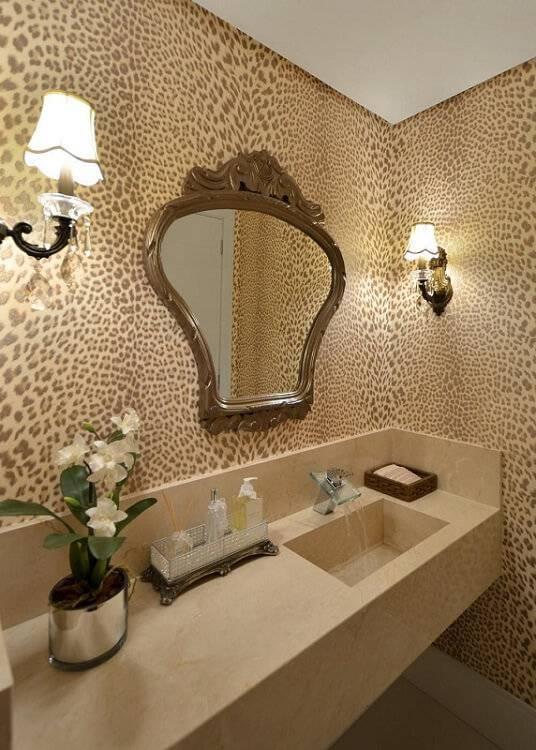 espelho para banheiro lavabo leopardo tani bittencourt 7818