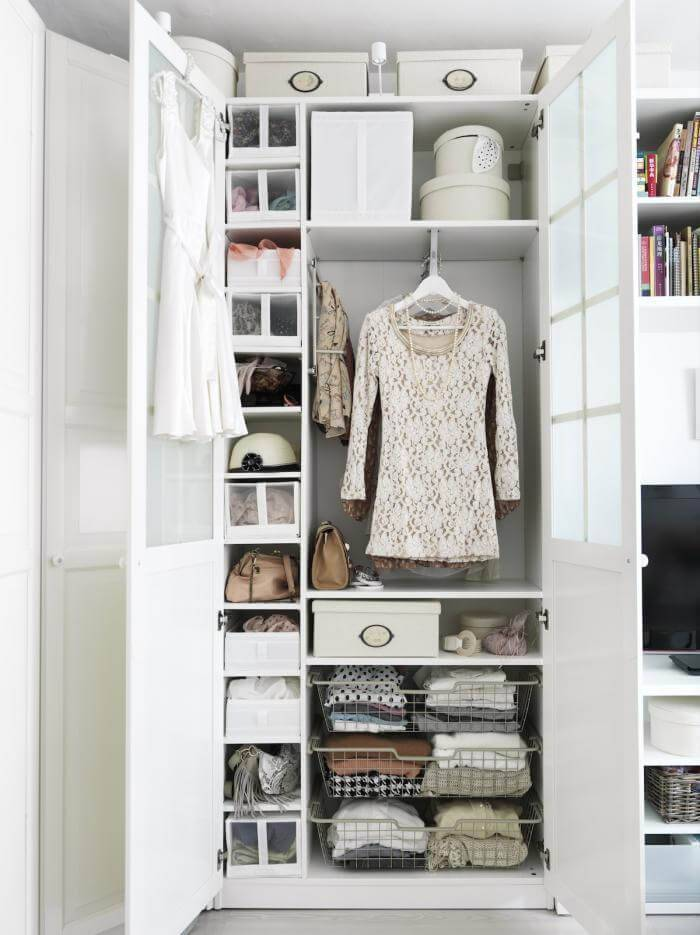 caixa organizadora guarda roupa feminino