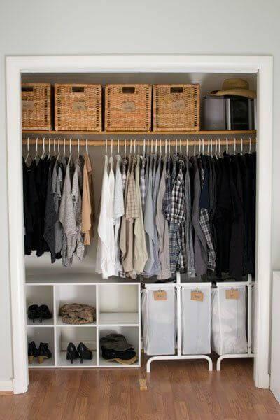 caixa organizadora guarda roupa