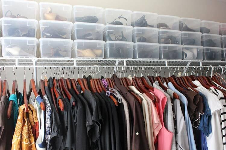caixa organizadora sapatos closet