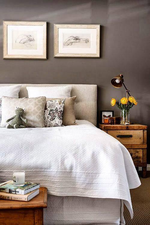 quartos decorados pinterest cinza rustico