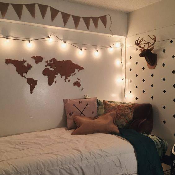 quartos decorados pinterest com pisca pisca