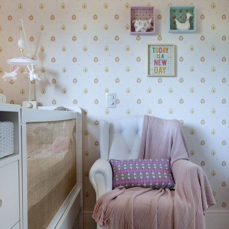Papel de parede para quarto de bebê princesa