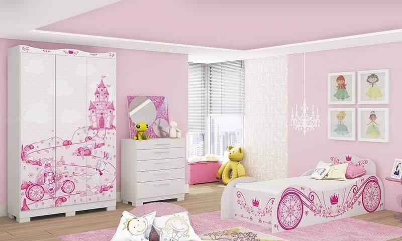 móveis estampados para quarto de princesa