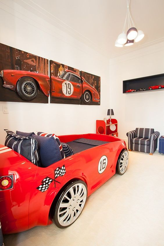 Creative children's bed cars