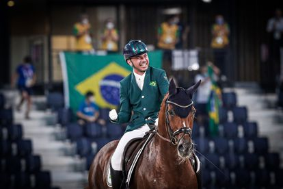 Rodolpho Riskalla conquistou a primeira medalha da história do adestramento paralímpico brasileiro.