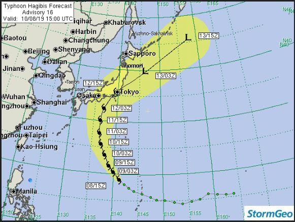 Tufão atinge o Japão e deixa 23 mortos. Dezesseis pessoas ainda estão desaparecidas 23
