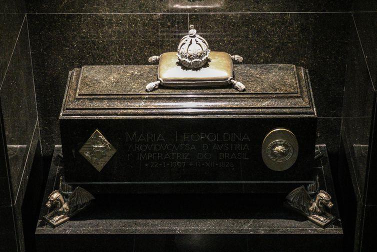 Túmulo da imperatriz Maria Leopoldinada na Cripta Imperial, localizada no Parque da Independência, Ipiranga.
