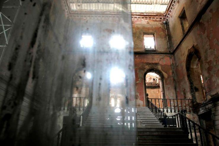 Salão interno do prédio da sede do Museu Nacional, na Quinta da Boa Vista, zona norte da cidade