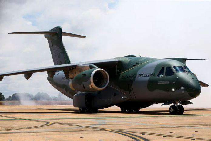 KC-390, avião para transporte tático/logístico e reabastecimento em voo desenvolvido pela Embraer, na Base Aérea de Brasília