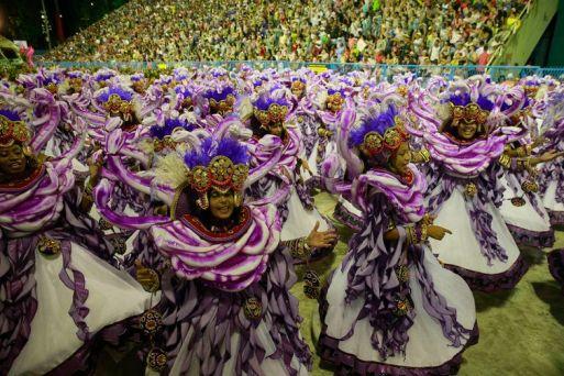 Desfile da Unidos do Viradouro no Carnaval 2019 no Rio de Janeiro