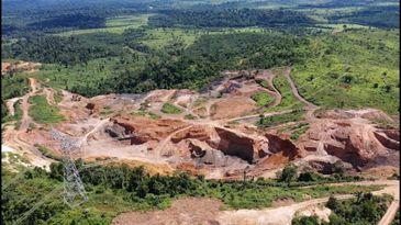 Garimpo ilegal na região de Marabá,